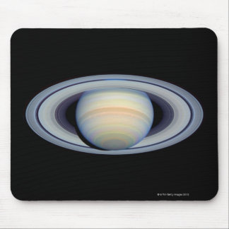 Saturn with rings at widest angle to Earth Mouse Pad