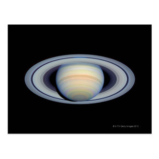 Saturn with rings at widest angle to Earth Post Card