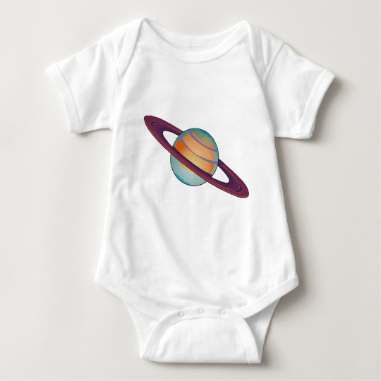 Saturn with Rings Baby Bodysuit