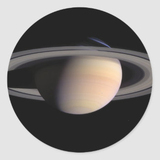 Saturn with Rings Classic Round Sticker