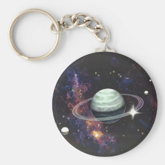 Saturn with Rings Keychain