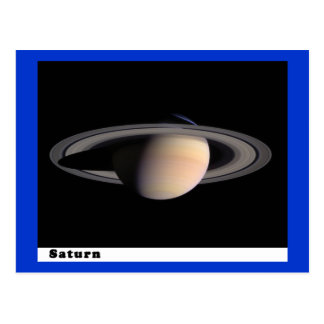 Saturn with Rings Postcard
