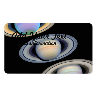 Saturn With Rings Tilted Toward Earth Business Cards