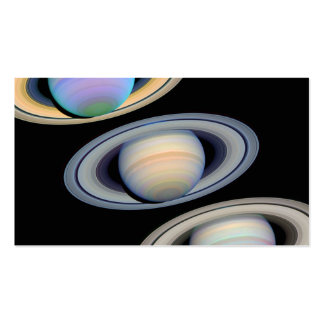 Saturn With Rings Tilted Toward Earth Business Card