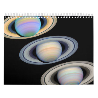 Saturn With Rings Tilted Toward Earth Wall Calendars