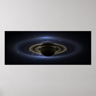 Saturn y el día la tierra sonrieron posters