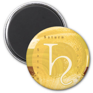 Saturn Zodiac Astrology Design Magnet