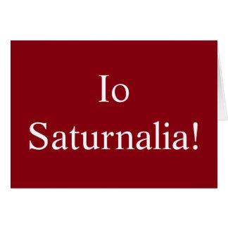 Saturnalia del Io - tarjeta de Navidad