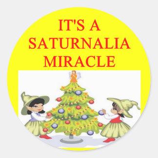 SATURNALIA pagan holiday Sticker
