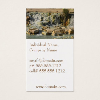Saturnia Natural Hot Springs Business Card