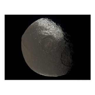 Saturn's 3rd Largest Moon Iapetus Taken by Cassini Postcard