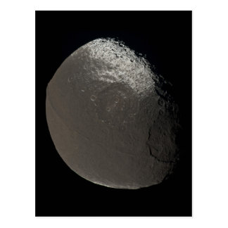 Saturn's 3rd Largest Moon Iapetus Taken by Cassini Post Card