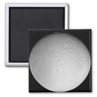 Saturn's icy moon Rhea 2 Inch Square Magnet