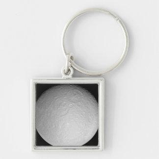 Saturn's icy moon Rhea Keychain