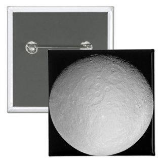 Saturn's icy moon Rhea Pinback Button