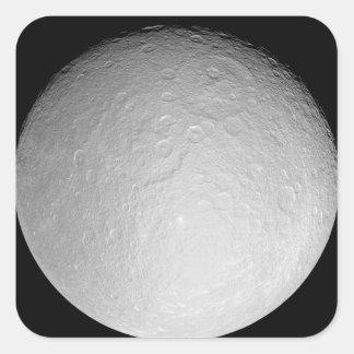 Saturn's icy moon Rhea Square Sticker