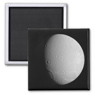 Saturn's moon Dione 2 2 Inch Square Magnet