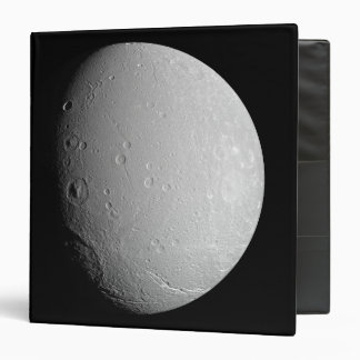 Saturn's moon Dione 2 3 Ring Binder