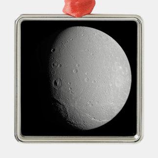 Saturn's moon Dione 2 Metal Ornament