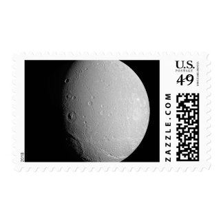 Saturn's moon Dione 2 Postage Stamp