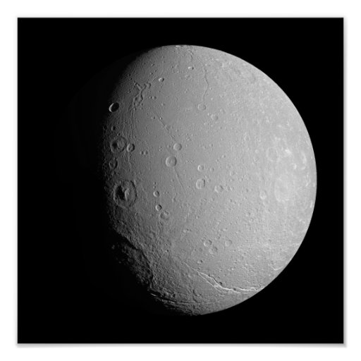 Saturn's moon Dione 2 Poster