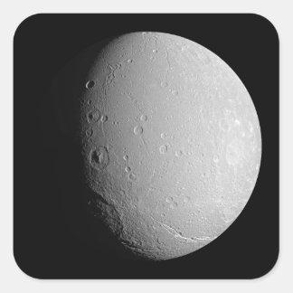 Saturn's moon Dione 2 Square Sticker