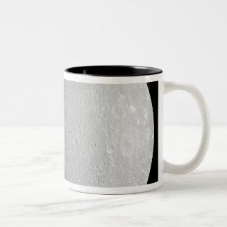 Saturn's moon Dione 2 Two-Tone Coffee Mug