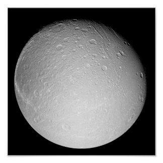 Saturn's moon Dione Poster