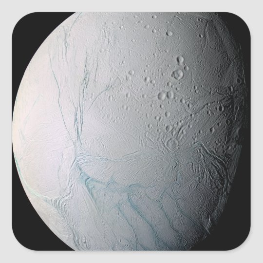 Saturn's moon Enceladus 2 Square Sticker