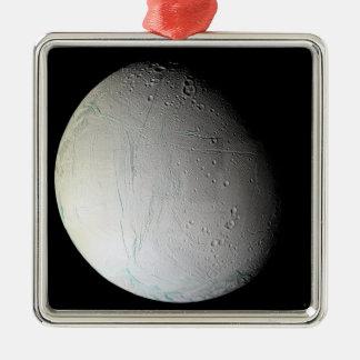 Saturn's moon Enceladus 3 Metal Ornament