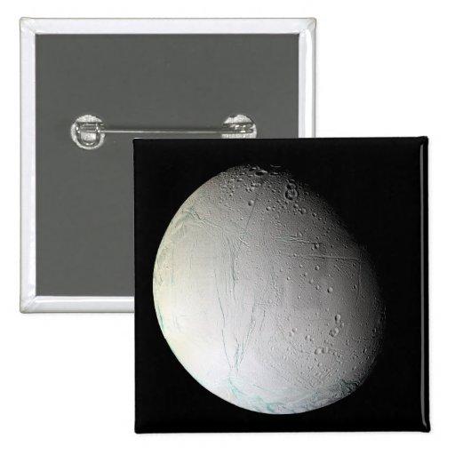 Saturn's moon Enceladus 3 Pinback Button