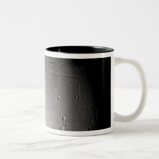 Saturn's moon Enceladus 3 Two-Tone Coffee Mug