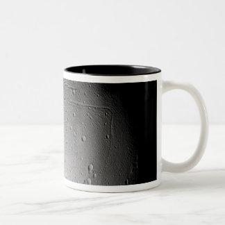 Saturn's moon Enceladus 3 Two-Tone Coffee Mug