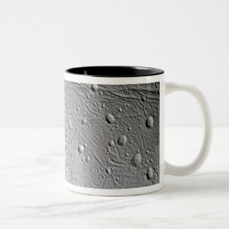 Saturn's moon Enceladus 4 Two-Tone Coffee Mug