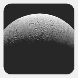 Saturn's moon Enceladus 5 Square Sticker