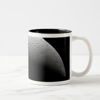 Saturn's moon Enceladus 5 Two-Tone Coffee Mug