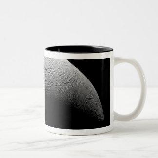 Saturn's moon Enceladus 5 Two-Tone Coffee Mug