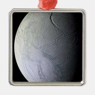 Saturn's moon Enceladus Metal Ornament