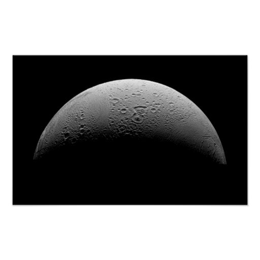 Saturn's moon Enceladus Poster
