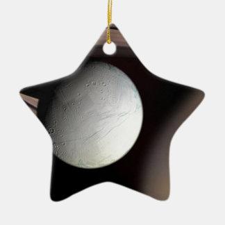 Saturn's Moon Encephaladus Ceramic Ornament