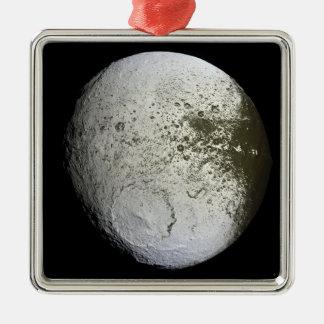 Saturn's moon Iapetus 2 Metal Ornament