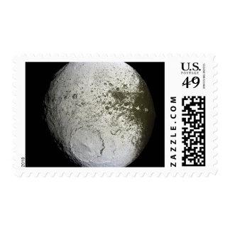 Saturn's moon Iapetus 2 Postage Stamp