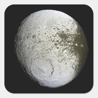 Saturn's moon Iapetus 2 Square Sticker