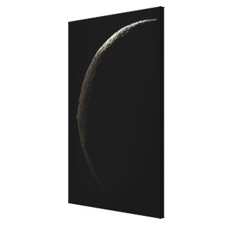 Saturn's moon Iapetus Stretched Canvas Print