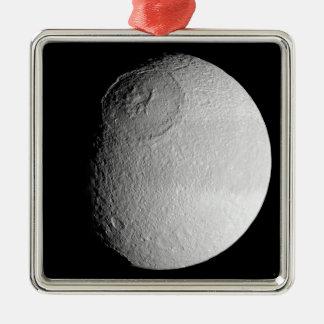 Saturn's moon Tethys 2 Metal Ornament