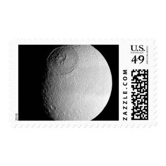 Saturn's moon Tethys 2 Postage Stamp
