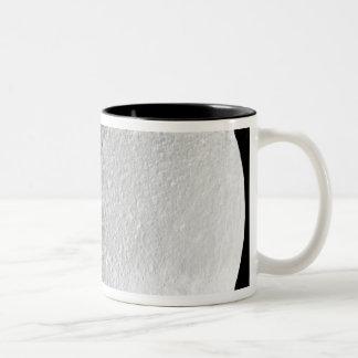 Saturn's moon Tethys 2 Two-Tone Coffee Mug