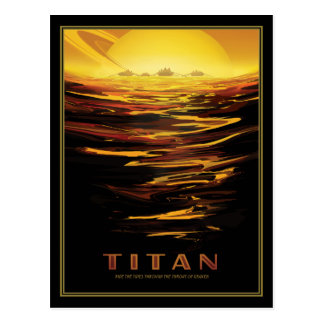 Saturns Moon Titan Space Tourism Postcard