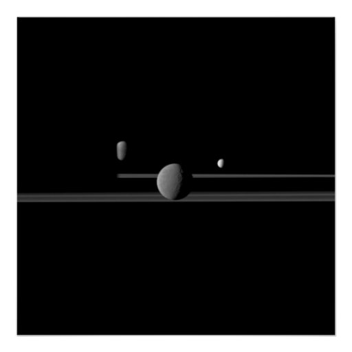 Saturn's Moons Poster