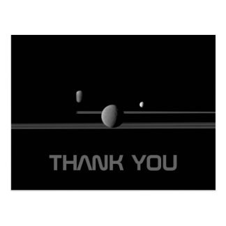 Saturn's Moons Thank You Postcard
